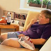 Snacking and Watching TV